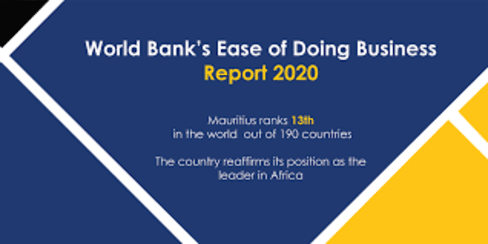 In a report released in October, Mauritius is at the 13th position in the 'Ease of doing business' ranking out of the 190 countries analysed!